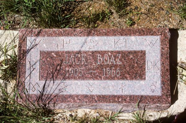 Mr. Boaz' marker