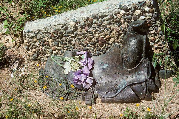 Bronze saddle in Skull Valley