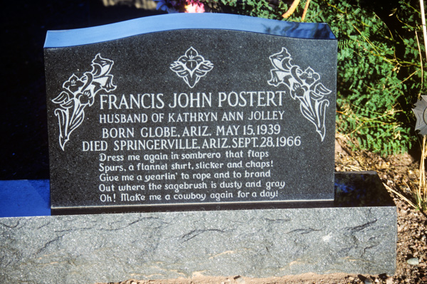 Marker in the St. Johns community cemetery