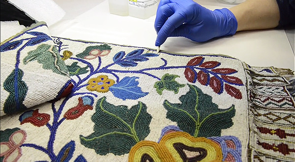 Cleaning and stabilizing beadwork