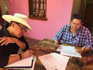 Cornelio Molina (Vicam, Sonora) and Felipe Molina (Marana, AZ) are main participants in the project.