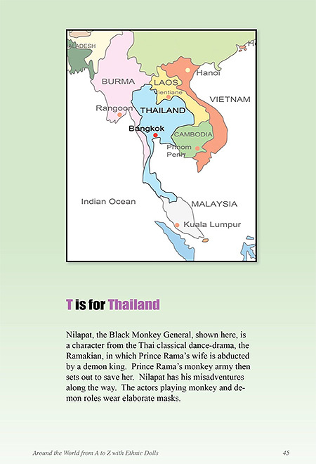 Map showing Thailand