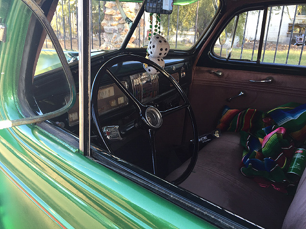 Interior of Alfred Jr's '38 Chevy