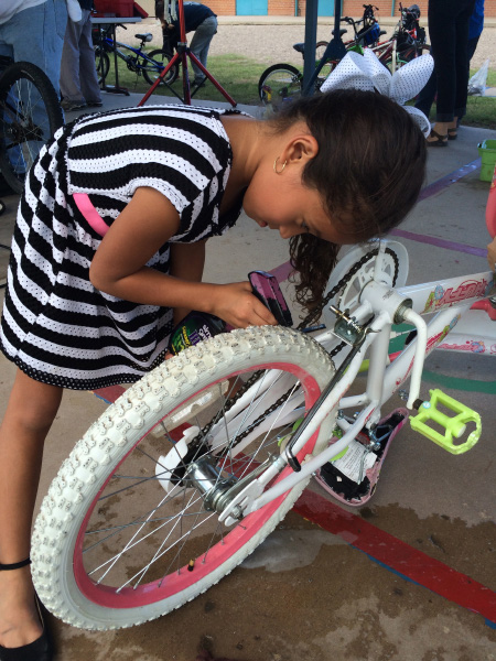 Learning bike repair