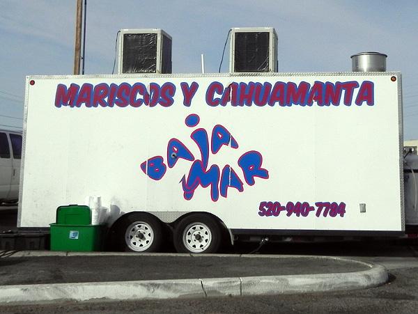 BAJA MAR seafood truck.
