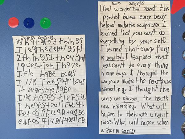 kids' writing
