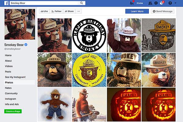 Smokey's Facebook Page