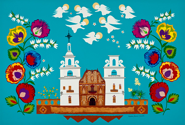 The Celebration of San Xavier Mission by Magdalena Jannotta;
