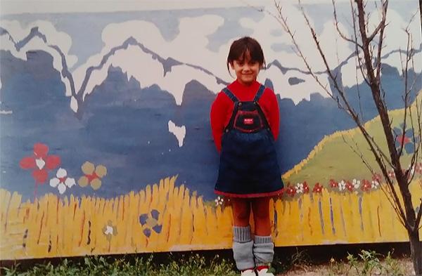 Yamila El-Khayat as a child