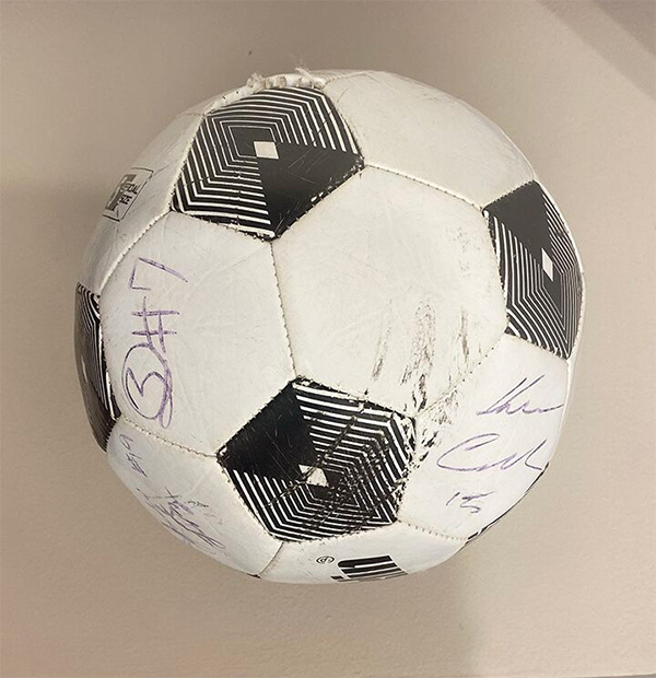 Signed soccer ball
